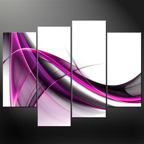 purple printable wall art abstract purple wave set canvas wall art pictures prints