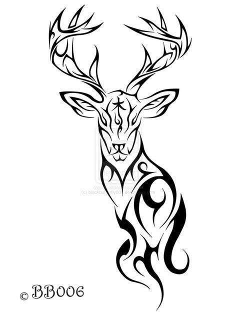 tribal buck tattoo tribal deer by blackbutterfly006 on deviantart