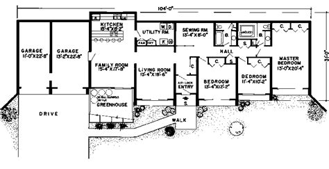 Earth Sheltered Home Plans by Earth Bermed Floor Plans Studio Design Gallery