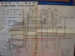 yamaha factory wiring diagram 1985 xt350 n xt350 ebay