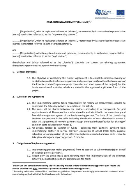 profit agreement template 9 best images of non profit partnership agreement sle