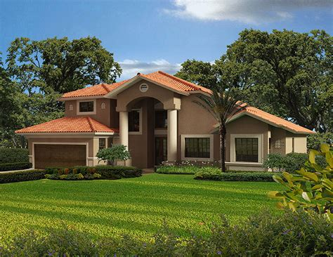 Two Story Florida House Plans by Two Story Classic Florida Style 32136aa 1st Floor