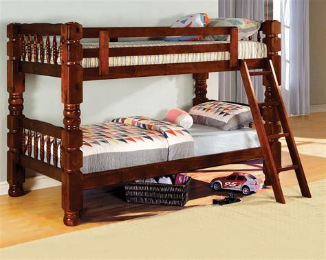 Sturdy Bunk Beds Baltimore Cherry Solid Pine Bunk Bed Bold Sturdy Steel Bunk Bed