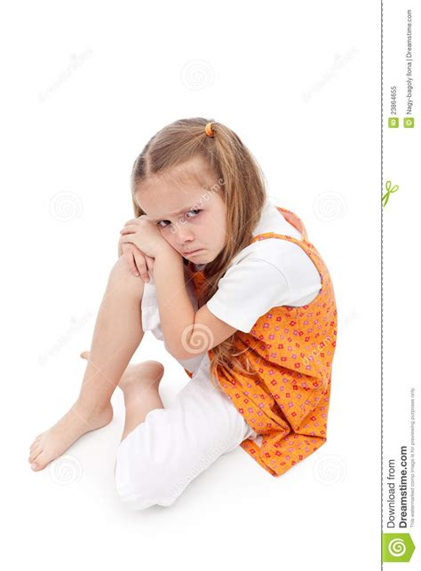 extra small girl very upset little girl royalty free stock photo image