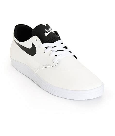 nike sb lunar oneshot white black skate shoes at zumiez
