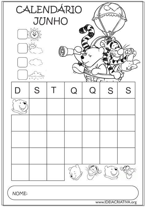 Calendario Junho 2015 Calend 225 Rios Junho 2015 Turma Do Pooh Educa 231 227 O Infantil
