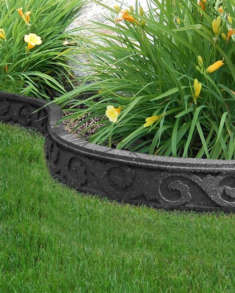 Landscape Edging Rubber Ecotrend Flexi Curve Garden Borders Are Made Of Recycled