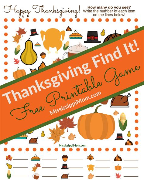 Thanksgiving Picture Find Printables