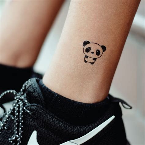 panda tattoo on finger cute panda temporary tattoo tood