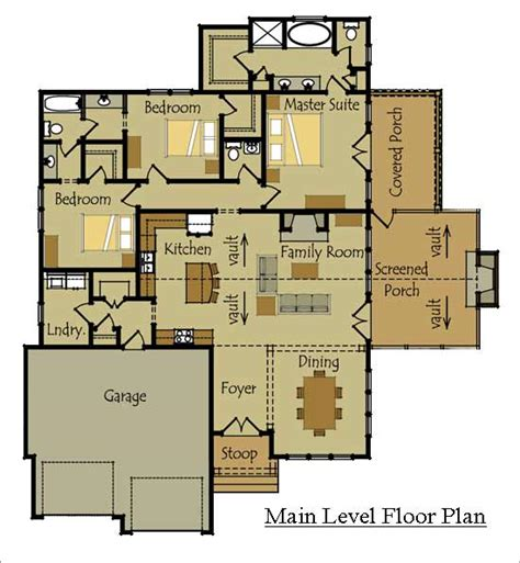 style floor plans one story cottage style house plan