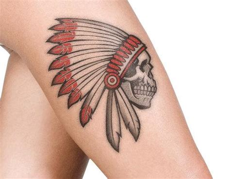 indian headdress tattoo designs 9 indian skull designs and their meanings