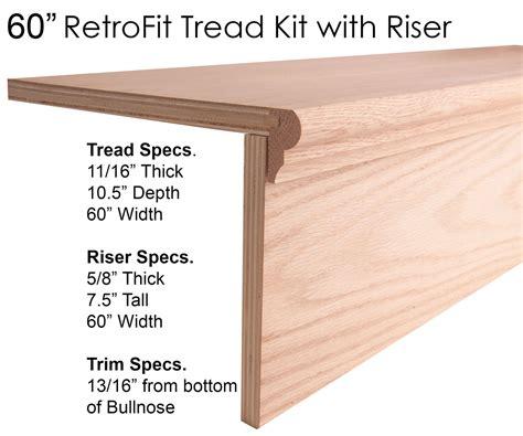 wood stair treads starting steps retrofit treads