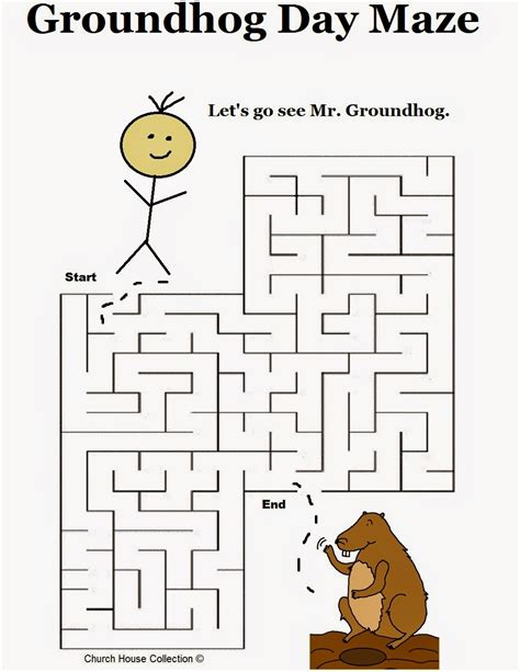 day activities for groundhog day activities for preschool goundhog day mazes