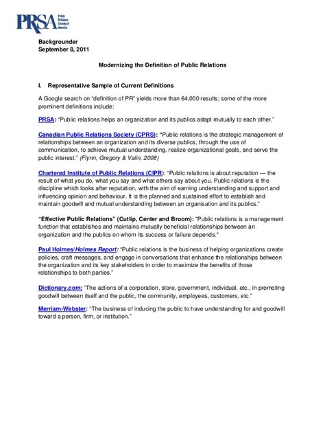 pr fact sheet template backgrounder relations defined initiative