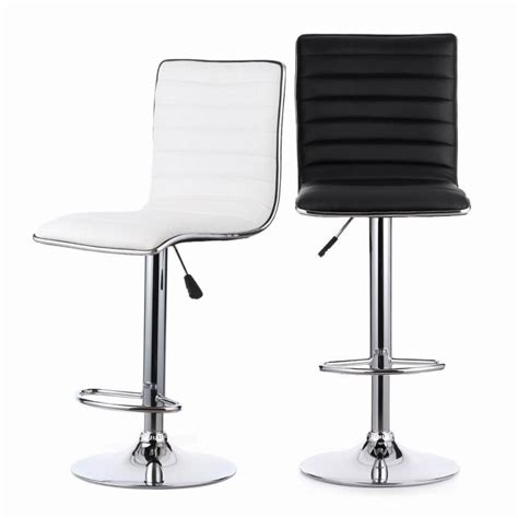 2pcs pu leather adjustable counter swivel bar stool pub ikayaa 2pcs set of 2 color pu leather bar stool pneumatic