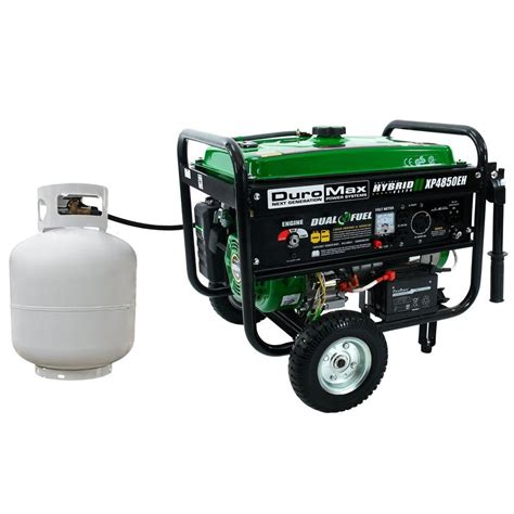 duromax 4 850 watt dual fuel propane gas powered electric