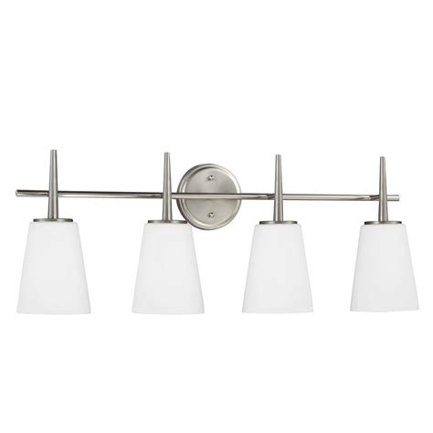 hton bay 4 light brushed nickel wall vanity light cbx1394 2 sc 1 the home depot hton bay andenne 4 light brushed nickel bath vanity light 705207 the home depot
