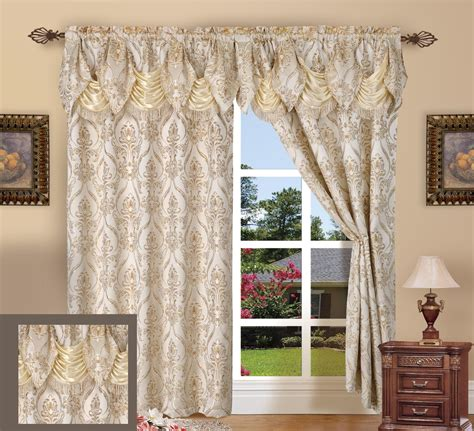 54 inch curtains new elegant jacquard look curtain panel window treatment 2