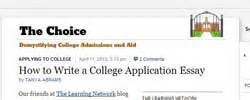 College Application Essay New York Times 100 Top Tools For Writing The Best Admissions Or