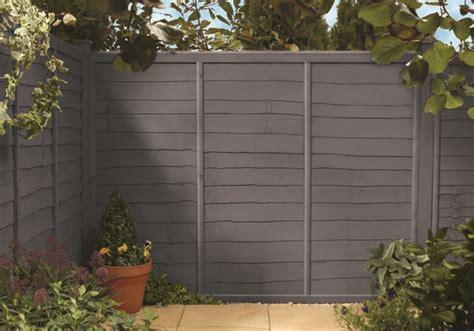 Homebase Shed Paint by Cuprinol Slate On Fence Garden Ideas