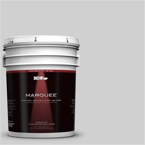behr marquee 5 gal n520 1 white metal flat exterior paint 445005 the home depot