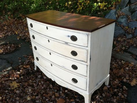 white dresser with stained wood top custom painted dressers antique white dark walnut stained