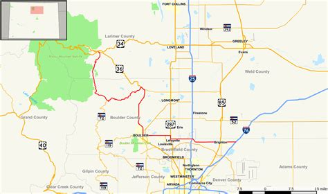 colorado county map with highways file colorado state highway 7 map svg