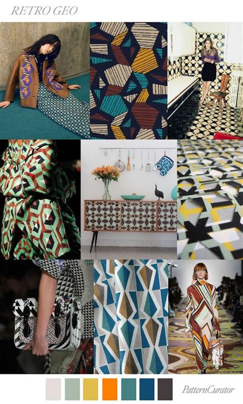 pattern curator ss18 trends pattern curator retro geo ss 2018 fashion