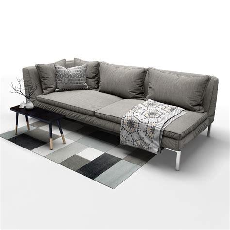 b and b italia charles sofa sofa b and b italia charles 3d model max obj fbx mtl mat