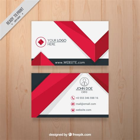 card template freepik flat business card with elements vector free