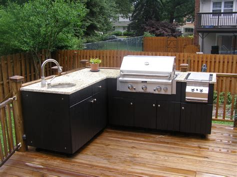 outdoor kitchen cabinets polymer laguna black coral porch newark by paradise outdoor