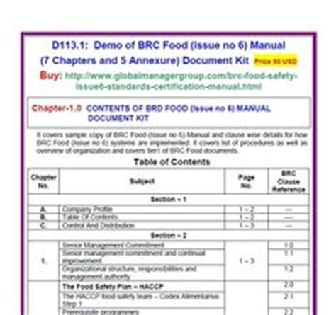 food safety manual template haccp plan template blank haccp plan forms