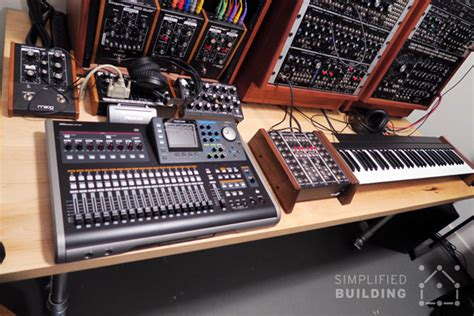 diy studio desk diy studio desk for comfortable keyboard