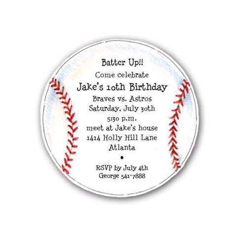 baseball invitation template diecut baseball birthday invitations paperstyle