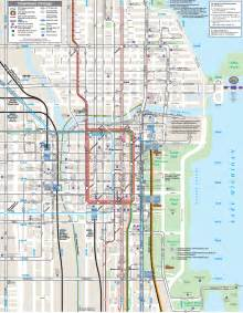Maps Chicago by Pin Chicago Maps Downtown Cta Neighborhood And Street On