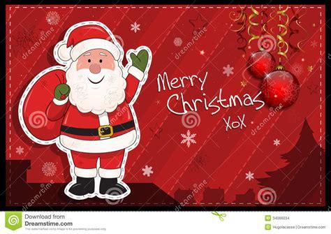 imagenes de santa claus y la navidad tarjeta de navidad horizontal roja con santa claus