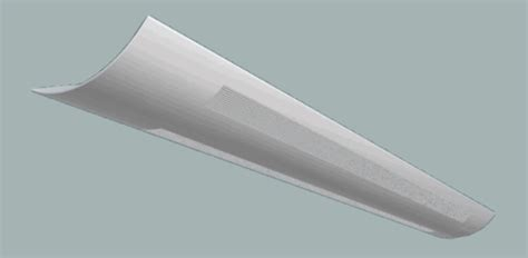 linear indirect fluorescent perforated light