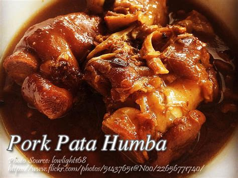 printable pinoy recipes pork pata humba recipe panlasang pinoy meat recipes