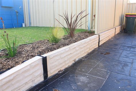 Sleeper Garden Edge by Creative Sleepers Concrete Sleepers Retaining Walls