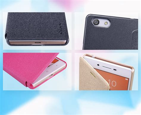 Oppo Neo 7 A33 Flip Cover Dual Window Magnet Clip Casing 1 nillkin sparkle series new leather for oppo neo 7 a33
