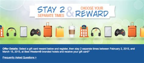 Air Miles Best Western Gift Card - best western free gift card promotion points miles martinis