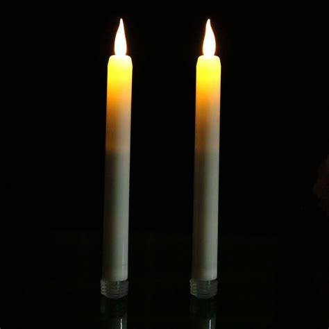 battery taper candles uk 2 battery taper candles with flicker 23cm