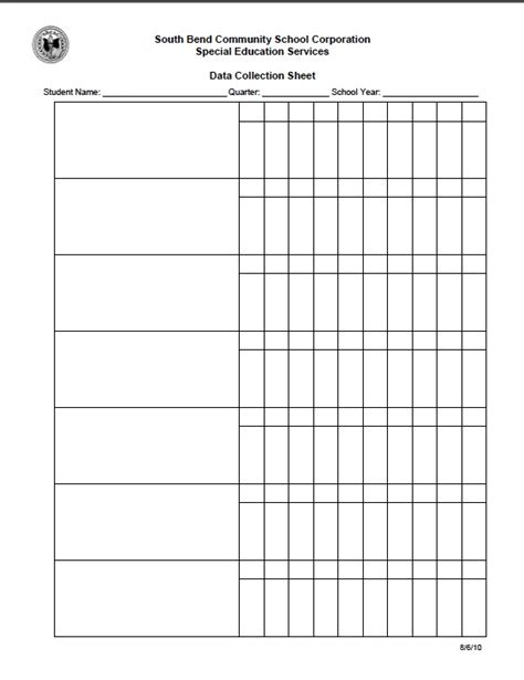 This Public School Site Has Loads Of Data Sheets And Resources Transition Plan Iep Iep Goal Template
