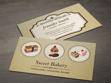 business card template for a bakery make your own business card from 20 000 designs