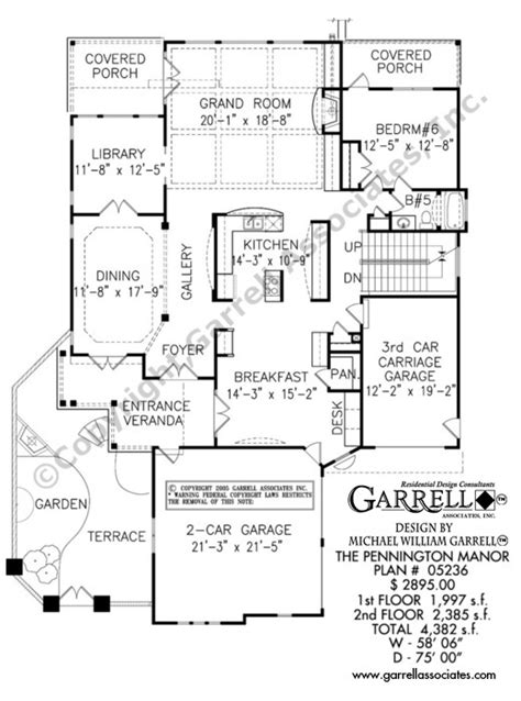 garrell floor plans pennington manor house plan house plans by garrell