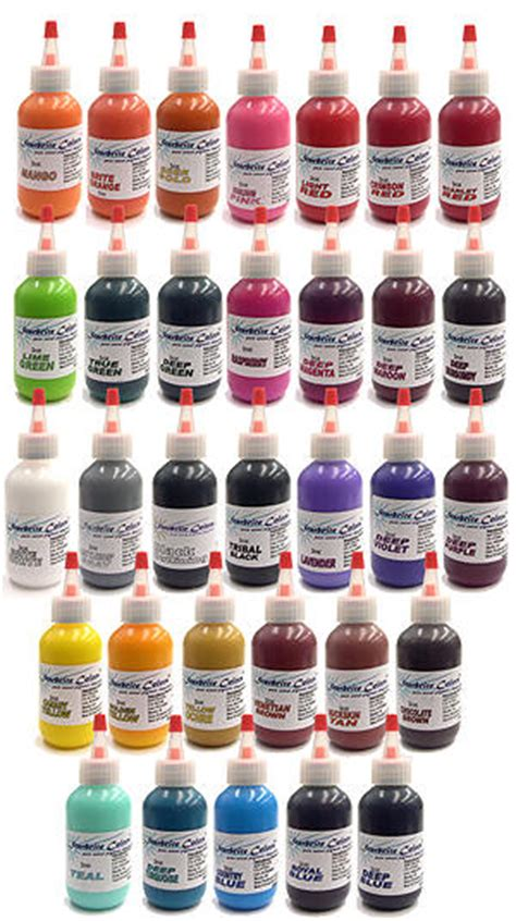 ty tattooing ink accessories starbrite tattoo ink 32 color set starbrite 32 color set
