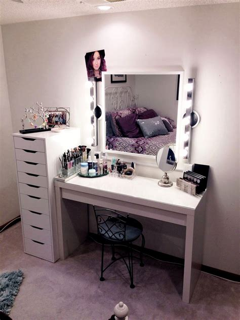 makeup vanities for bedrooms makeup vanity with lights ikea table vanity set stool in cherry led desk l troty 3 drawer
