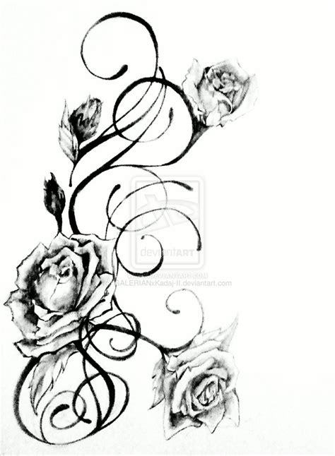 rose vine tattoo designs roses vine with bird on side rib