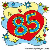 85 Geburtstagskarte gratis