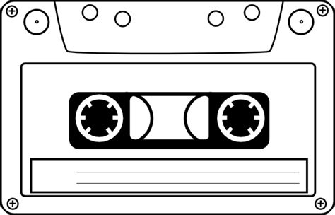 cassette template cassette audio clip at clker vector clip
